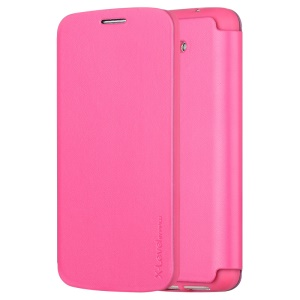 X-LEVEL Slim Light Leather Stand Shell for LG Optimus G2 D801 D802 - Rose