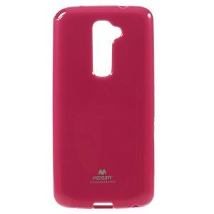 NEWSETS MERCURY Jelly TPU Flash Powder Case Cover for LG Optimus G2 D801 D802 - Rose