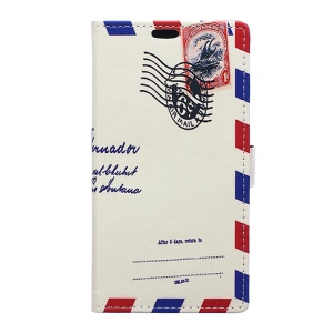 Vivid Pattern Wallet Leather Phone Cover for LG X Style - Retro Envelope