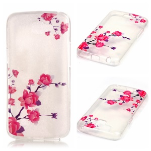 Soft IMD TPU Shell Case Cover for LG K4 - Beautiful Flowers