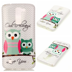 Soft IMD TPU Cover Case for LG K8 - Two Owls