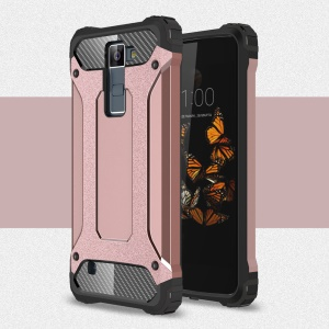Armor Guard Plastic + TPU Hybrid Cover Case for LG K8 - Pink