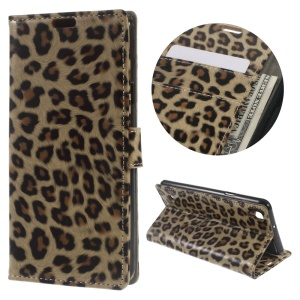 Leopard Texture Wallet Leather Stand Case Cover for LG X Style