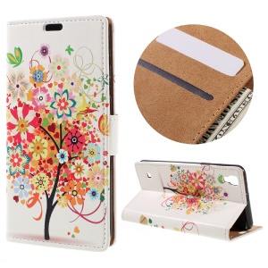 Wallet Leather Phone Case for LG X Style - Flowered Tree