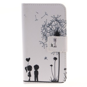 Wallet Leather Stand Case for LG K4 - Dandelion and Lovers