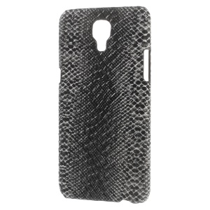 PU Leather Coated Back Cover PC Case for LG X Screen - Snake Texture