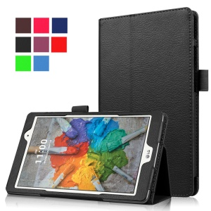 Lychee Texture Stand Leather Case for LG G Pad X 8.0 - Black