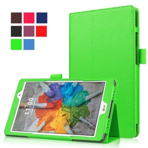 Lychee Texture Folio Stand Leather Case for LG G Pad X 8.0 - Green
