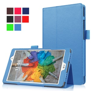 Lychee Texture Folio Stand Leather Case for LG G Pad X 8.0 - Baby Blue