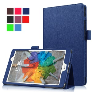 Lychee Texture Tablet Leather Case for LG G Pad X 8.0 - Deep Blue