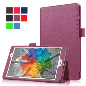 Lychee Texture Tablet Leather Case for LG G Pad X 8.0 - Purple