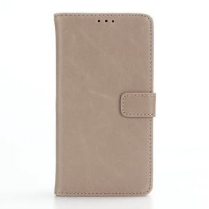 For LG X Power Retro Crazy Horse Leather Cover with Wallet Stand - Grey