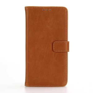 Retro Crazy Horse Wallet Stand Leather Pgone Cover for LG X Style - Brown
