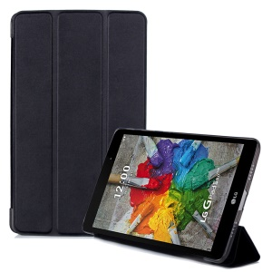 Slim Tri-fold Leather Stand Flip Case for LG G Pad III 8.0 V525 - Black