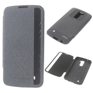 MERCURY Goospery Wow Bumper View Folio Leather Case Cover for LG K10 - Grey