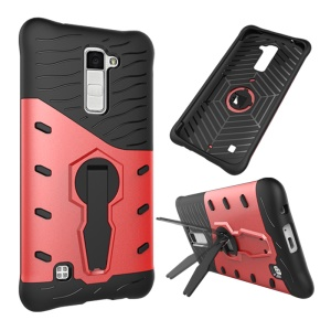 Armor PC + TPU Hybrid Shell with Kickstand for LG K10 - Red