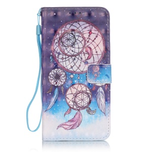Patterned Magnetic Leather Case for LG Stylus 2/LG G Stylo 2 LS775 - Pretty Dreamcatcher