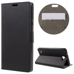 Wallet Leather Stand Phone Case for LG X5 - Black