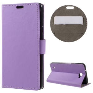 Stand Leather Folio Protective Case for LG X5 - Purple