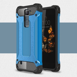Armor Guard Plastic + TPU Hybrid Phone Case for LG Phoenix 2 - Baby Blue