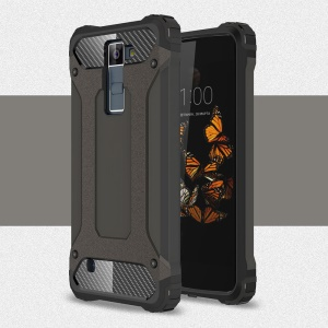 Armor Guard Plastic + TPU Hybrid Case Shell for LG Phoenix 2 - Bronze