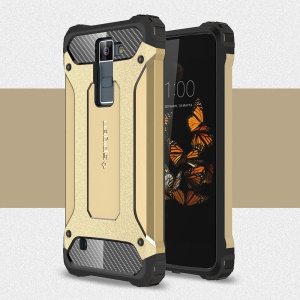Armor Guard Plastic + TPU Hybrid Case Cover for LG Escape 3 - Gold