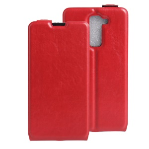 Crazy Horse Vertical Flip Leather Case for LG Stylus 2/Stylus 2 Plus/Stylo 2/Stylo 2 Plus - Red