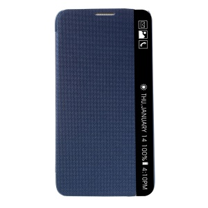 Folio Window Leather Smart Phone Cover for LG Stylus 2 - Blue