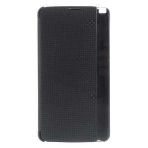 View Window Leather Smart Phone Case for LG Stylus 2 Plus - Black