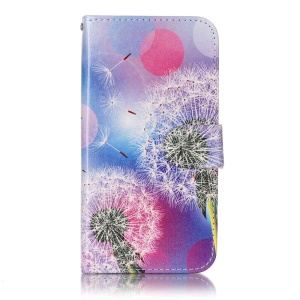 Wallet Leather Magnetic Case for LG X Screen - Dandelion Pattern