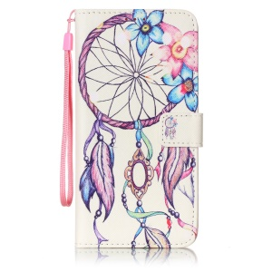 Patterned Wallet Stand Leather Case for LG Stylus 2/LG G Stylo 2 - Flowered Dreamcatcher