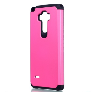 Shock-proof Plastic + TPU Hybrid Case for LG G Stylo LS770 - Rose