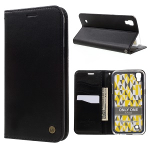 ROAR KOREA ONLY ONE Leather Wallet Stand Case for LG X Power - Black