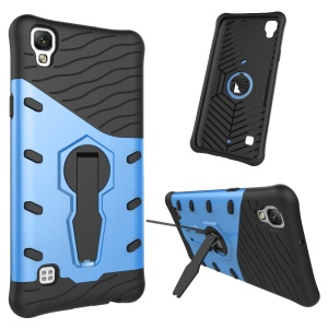 Kickstand PC + TPU Cool Armor Cell Phone Case for LG X Style - Blue