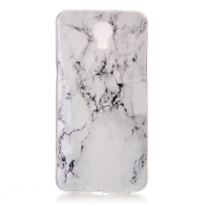 Pattern Printing IMD TPU Gel Case for LG X Screen - Marble Pattern