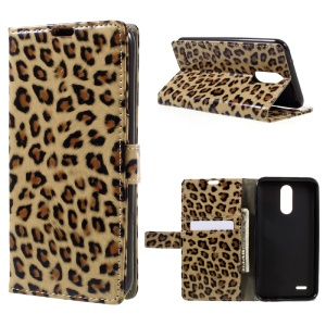 For LG V5 Leopard Wallet Leather Case Cover with Stand