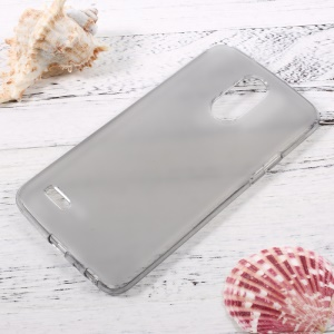 Non-slip Inner Glossy Outer TPU Phone Case for LG Stylus 3 - Grey