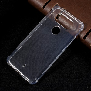 For LG V34 Thin Glossy Gel TPU Cover Case with Non-slip Inner - Transparent