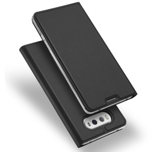 DUX DUCIS Skin Pro Series for LG G6 Business Leather Card Holder Mobile Casing - Dark Grey