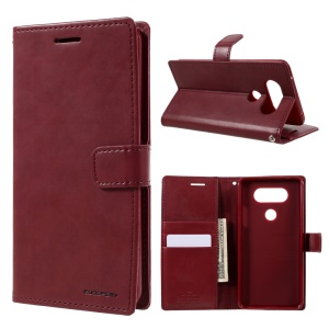 MERCURY GOOSPERY Blue Moon Wallet Leather Case for LG V20 - Wine Red