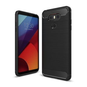 Carbon Fibre Brushed TPU Case for LG G6 - Black