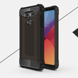 Armor Guard Plastic + TPU Hybrid Case for LG G6 - Black