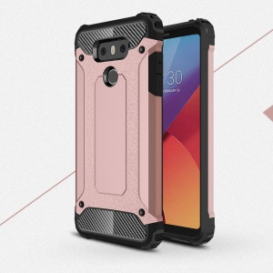 Armor Guard Plastic + TPU Combo Case for LG G6 - Rose Gold