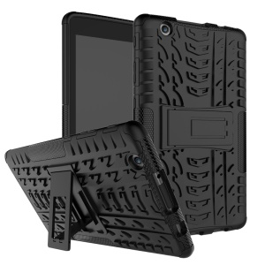 Tire Pattern Tablet Case 2-In-1 PC + TPU with Kickstand for LG G Pad X 8.0-inch - Black
