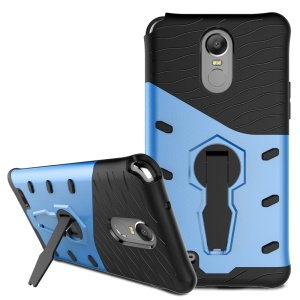 Armor PC + TPU Cell Phone Cover with 360-Degree Rotary Kickstand for LG Stylus 3 - Blue
