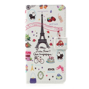 Pattern Printing Wallet Stand Leather Flip Case for LG K10 (2017) - Palettes Sweet Street