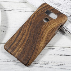 Leather Coated PC Protective Phone Case for LG G6 - Wood Texture / Brown