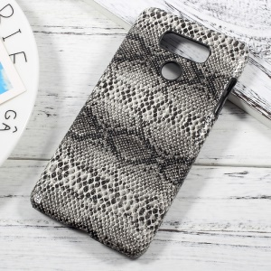 PU Leather Skin PC Protective Cell Phone Cover for LG G6 - Snake Texture / Black