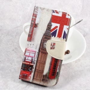For LG Aristo LV3 MS210 / K8 2017 M200N Patterned PU Leather Card Slots Case - London Elements