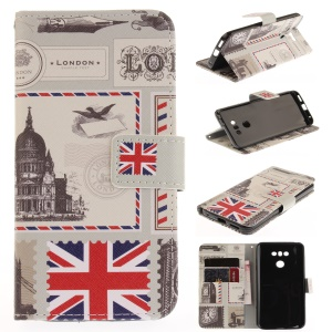 Pattern Printing Leather Wallet Case Cover for LG G6 - UK Flag